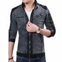 Mens Leather Denim Jackets