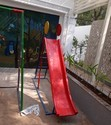 Outdoor Fiber Slide With Ladder