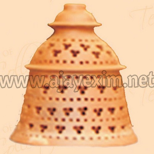 Artistic bell shape clay lamp shade at rs 600 carton terracotta artistic bell shape clay lamp shade aloadofball Choice Image