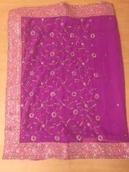 Rani Pink Dabka Saree