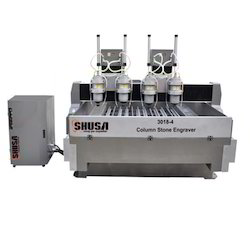 Multi Head Column Stone Engraving Machine