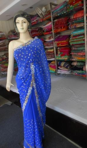 Women Latest Design Rajasthani Soft Mulmal Cotton Saree With Printed Blouse Pie