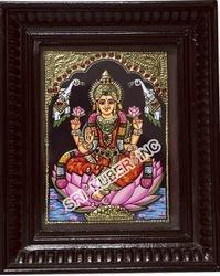 Mahalakshmi Tanjore Paintings.10x8 Size County Wood Frame
