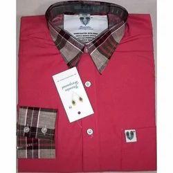Contrast Collars Executive Shirts