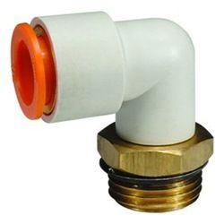 "SMC 1//4/"" White Orange Pneumatic Elbow Connector Pneumatic Fitting Air Line"