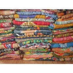 Vintage Throw Kantha Quilt