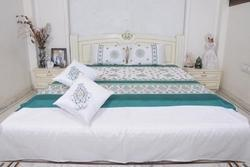 Embroided Designer Silk Bed Sheet