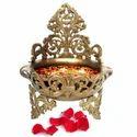 Decorative Brass Pot Unique Table Showpiece Gift Item Urli Pot For Decor