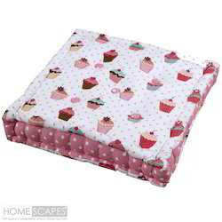 Cupcake Print Box Cushion