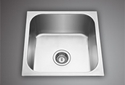 Single Ready To Mount Kitchen Sink 12 X 12, For Kichen