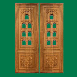 Teak Wood Pooja Room Door Furniture टक वड डर