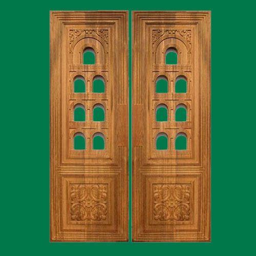 Teak Wood Pooja Room Door Furniture