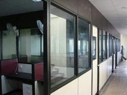 Full Height Partition With Glass