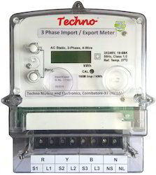 Three Phase import export net Kwh meter