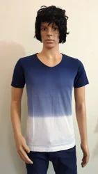Cotton Tie Dye Polo Neck T Shirts, Size: Small, Medium, Large & XL