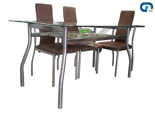 Beau Modern Steel Dining Set