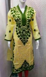 Cotton Lakhnawi Kurtis, Size: 42 to 46