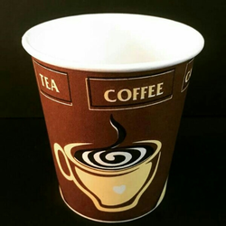 Multicolor Disposable Printed Paper Cup, Size: 100 Ml, for Home