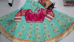 Lehenga Choli With Aari Work Embroidery