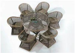 Hexa Style Outdoor Wicker Dining Table Set