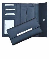 Black Ladies Leather Wallets