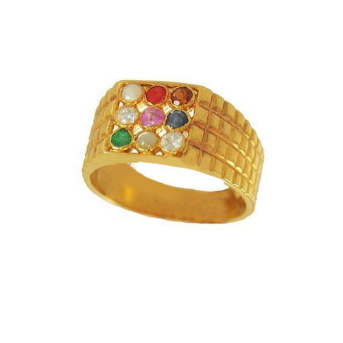 Gold Navaratna Ring at Rs piece s Mahidharpura