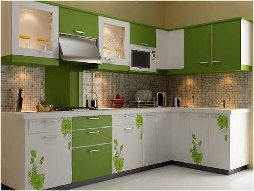 Wooden L Shape Designer Modular Kitchen Warranty 15 20 Years Rs