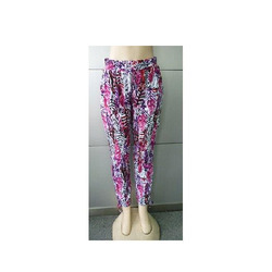 Female Regular Fit Ladies Rayon Pants, Size: 28 - 32