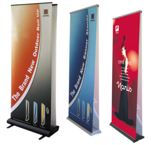 Customized Standee - Roll Up Standee Manufacturer from Gurgaon