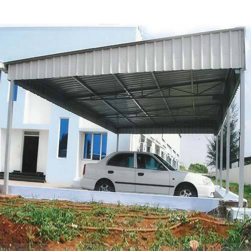 Car Parking Roofing Shed Car Shelter प र क ग श ड प र क ग छप पर New Naveena Industries Id 14044336597