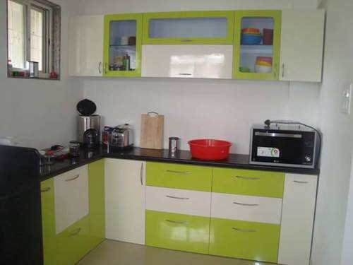 Manufacturer of modular kitchens sliding windows and for Single wall modular kitchen designs