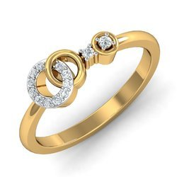 14k Gold Diamonds Ring