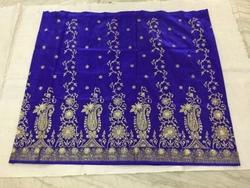 Royal Blue Real Zari Gold Silk Sarees