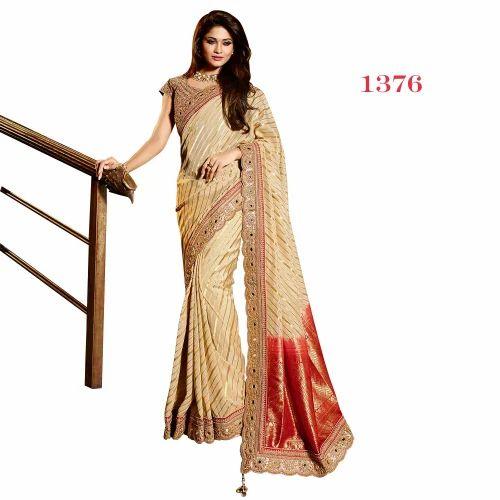 b92384c3a900e Real Zari Gold Wedding Viscose Sarees
