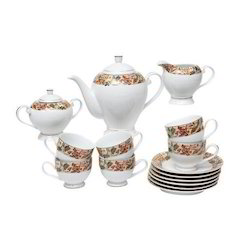 Lakline Porcelain Tea Set of 17 Pieces