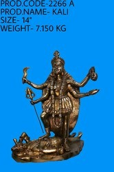Brown Brass Kali Statue