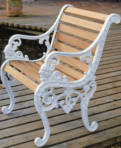Brown White Garden Bench