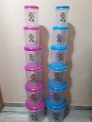 Kitchen Plastic Round Container