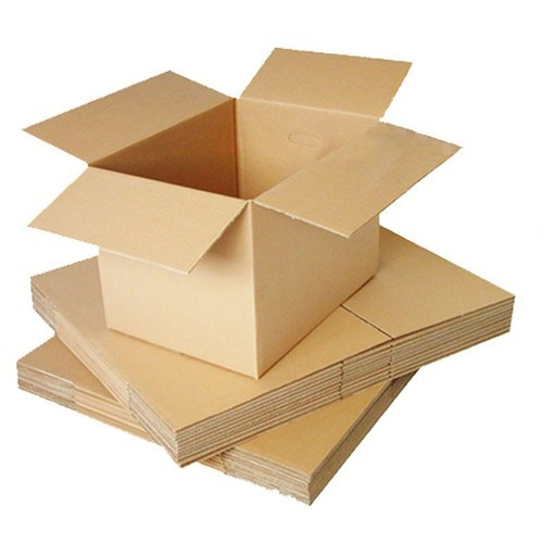 Corrugated Papersheet 1-5 Kg Brown Plain Corrugated Box