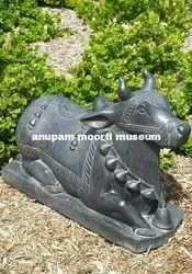 Nandi Marble Statue