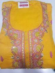 Yellow Dress Material