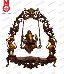 Lord Ganesh Swing On Dragon Ring Statue