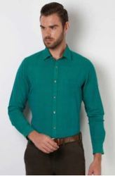 Peter England Green Casual Shirt