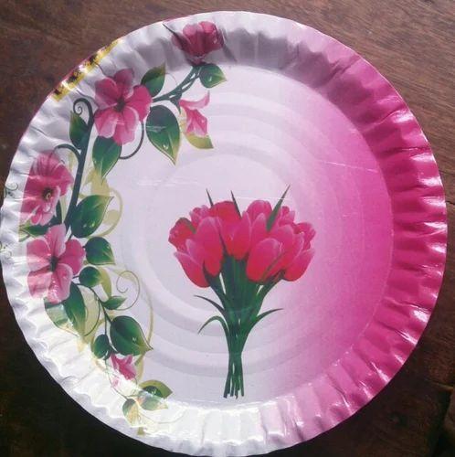 Flower Paper Plates & Flower Paper Plates Kagaz Ki Plate कागज की प्लेट ...