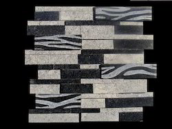 Black Stone Carving Mosaic Tiles