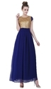 Blue and Gold  Party Wear Gowns