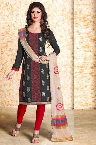 53ad3c5248 Dress Material - Black Printed American Crape Dress Material Manufacturer  from Surat