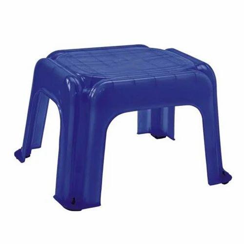 Home Blue Plastic Stool