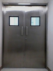 Grey Stainless Steel Manual Hinge Door, Size: 300mm x 300mm