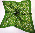 Silk Tabby Printed Square Scarf